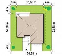 Минимальные размеры участка для проекта Z94