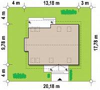 Минимальные размеры участка для проекта Z95