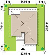 Минимальные размеры участка для проекта Z96 tz