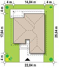Минимальные размеры участка для проекта Z96