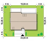 Минимальные размеры участка для проекта Z97