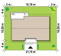 Минимальные размеры участка для проекта Z98 L GP