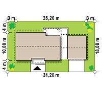 Минимальные размеры участка для проекта Z98 WP GP2