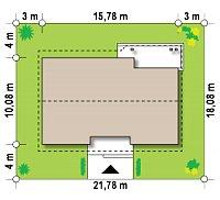 Минимальные размеры участка для проекта Z98