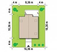 Минимальные размеры участка для проекта Z99 k