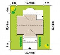 Минимальные размеры участка для проекта Z9