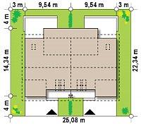 Минимальные размеры участка для проекта Zb11