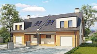 Проект одноэтажного дома на 2 семьи Zb11