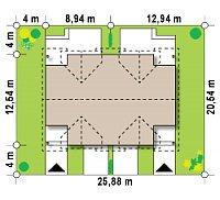 Минимальные размеры участка для проекта Zb12