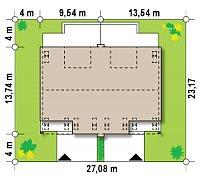 Минимальные размеры участка для проекта Zb13