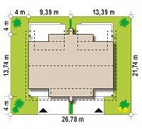 Минимальные размеры участка для проекта Zb15