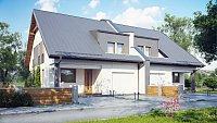Проект дома на 2 семьи с мансардой Zb15