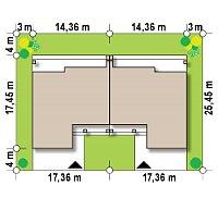 Минимальные размеры участка для проекта Zb16
