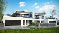 Проект каркасного дома на 2 семьи Zb16