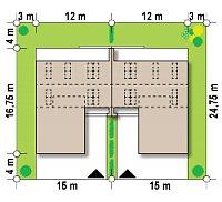Минимальные размеры участка для проекта Zb17