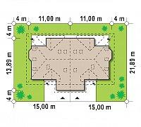 Минимальные размеры участка для проекта Zb1
