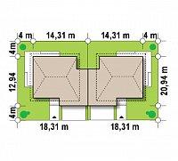 Минимальные размеры участка для проекта Zb2
