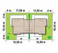 Минимальные размеры участка для проекта Zb3