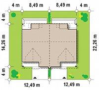 Минимальные размеры участка для проекта Zb4