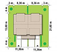 Минимальные размеры участка для проекта Zb5