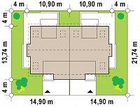 Минимальные размеры участка для проекта Zb6