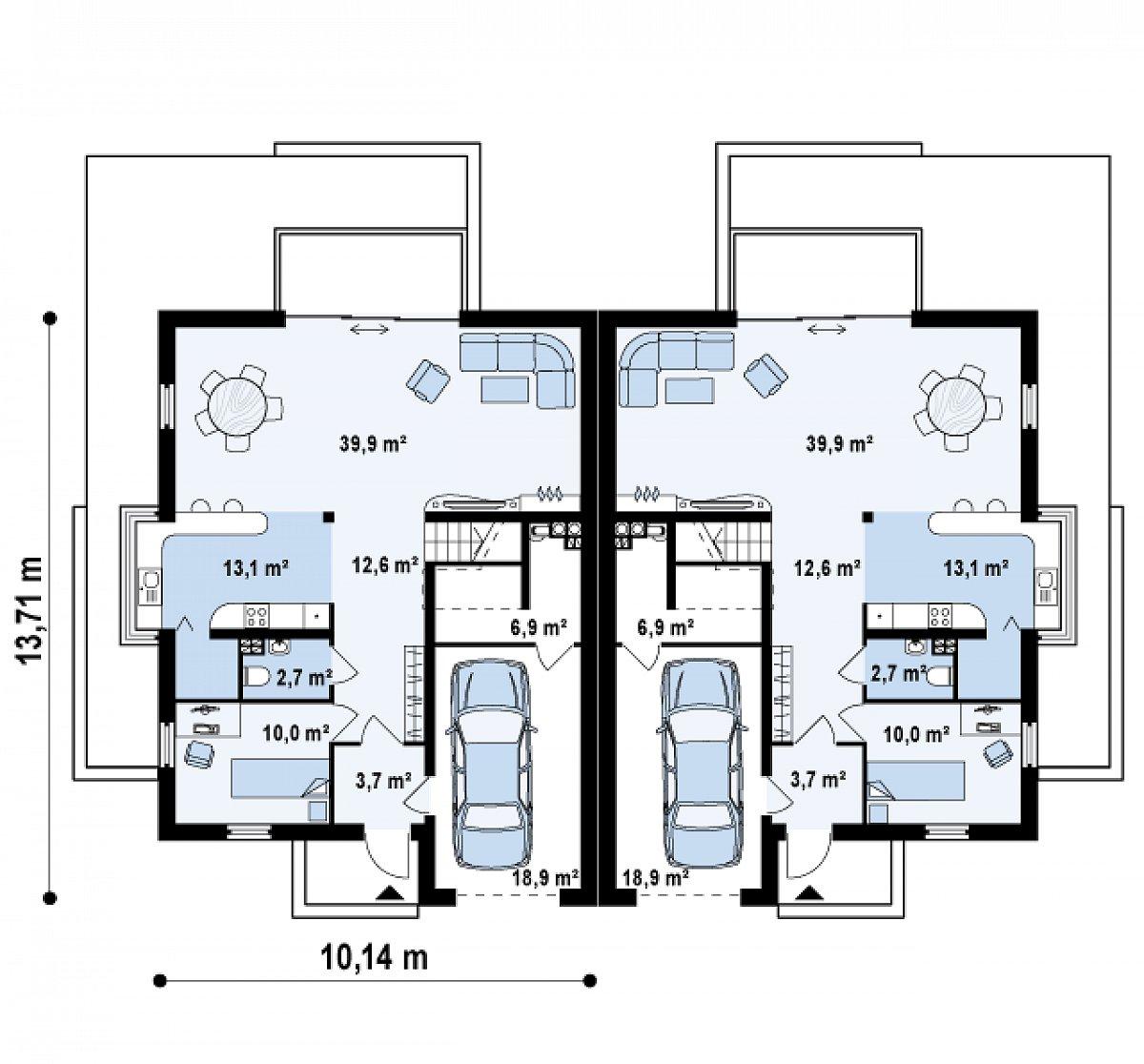 Первый этаж 82,6(107,9м²) дома Zb6