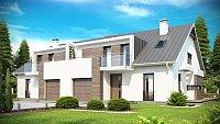 Проект двухэтажного дома на 2 семьи Zb6