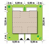 Минимальные размеры участка для проекта Zb7
