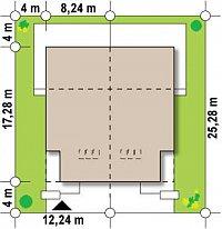 Минимальные размеры участка для проекта Zb8