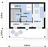 Минимальные размеры участка для проекта Zp1