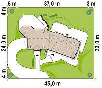 Минимальные размеры участка для проекта Zr2