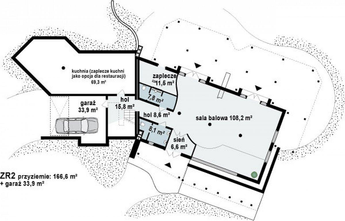 Подвал 166,6(200,5м²) дома Zr2
