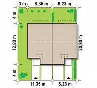 Минимальные размеры участка для проекта Zs1