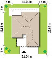 Минимальные размеры участка для проекта Zx100 v1