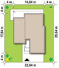 Минимальные размеры участка для проекта Zx100