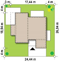 Минимальные размеры участка для проекта Zx101 GP2