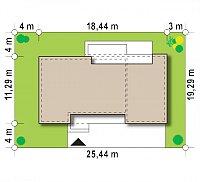 Минимальные размеры участка для проекта Zx102 GP