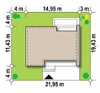 Минимальные размеры участка для проекта Zx102 bG