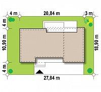 Минимальные размеры участка для проекта Zx102