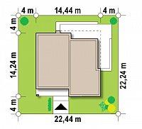 Минимальные размеры участка для проекта Zx103 bG