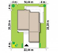 Минимальные размеры участка для проекта Zx103