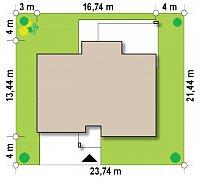 Минимальные размеры участка для проекта Zx104