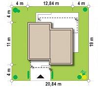 Минимальные размеры участка для проекта Zx105 B
