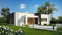 Проект одноэтажного дома с мансардой Zx105 B