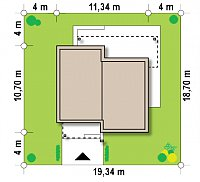 Минимальные размеры участка для проекта Zx105