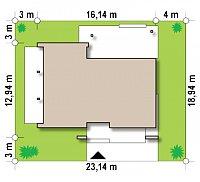 Минимальные размеры участка для проекта Zx106