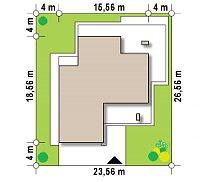 Минимальные размеры участка для проекта Zx108