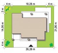 Минимальные размеры участка для проекта Zx109