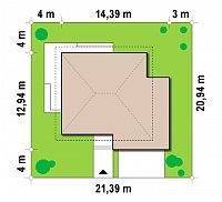 Минимальные размеры участка для проекта Zx10