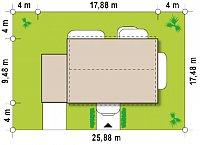 Минимальные размеры участка для проекта Zx11 GL
